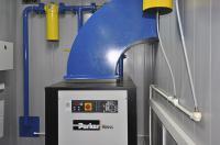 Компрессор с вентиляционным воздуховодом. Система подготовки сжатого воздуха.