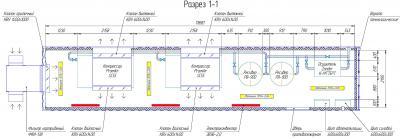 Схема расположения основного оборудования и систем